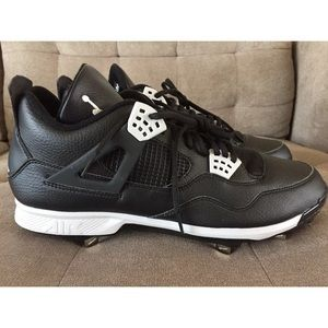 Air Jordan Retro 4 Mid Baseball Cleats Sz 14